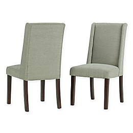 Simpli Home™ Linen Upholstered Sotherby Dining Chairs in Mist(Set of 2)