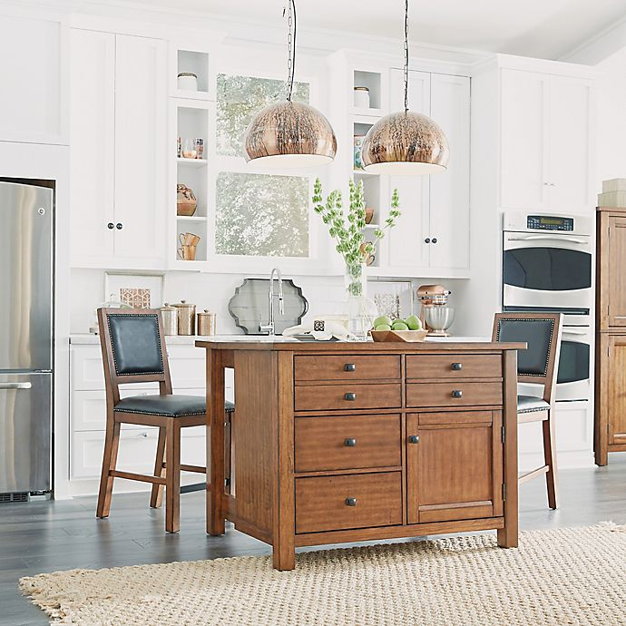 Sensational Home Styles Tahoe Kitchen Island With 2 Stools In Aged Maple Pabps2019 Chair Design Images Pabps2019Com