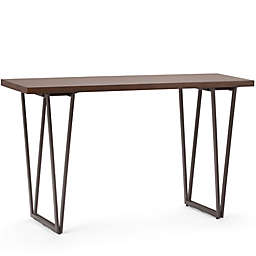Simpli Home Ryder Wood & Metal Console Table in Brown