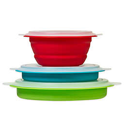Prepworks Collapsible Storage Bowls with Lids (Set of 3)