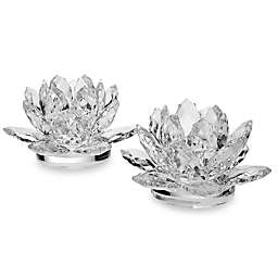 Godinger Lotus Candle Holders (Set of 2)