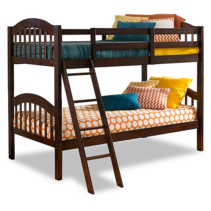 Alternate image 1 for Storkcraft Long Horn Twin Bunk Bed in Espresso