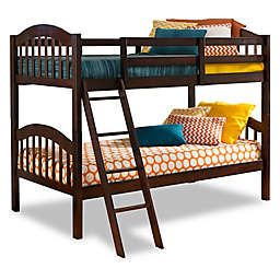 Storkcraft Long Horn Twin Bunk Bed in Espresso
