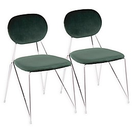 Lumisource® Velvet Upholstered Gwen Chairs (Set of 2)