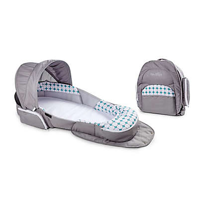 Baby Delight® Snuggle Nest® Traveler Portable Infant Sleeper in Grey Diamond Lattice
