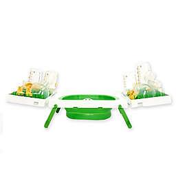 Sinkboss® Portable Sink & Drying Rack in Green/White