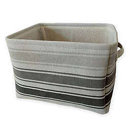 Bee & Coco Storage Bin in Grey Stripe
