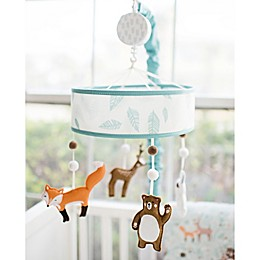 Forest Friends Crib Mobile in Aqua