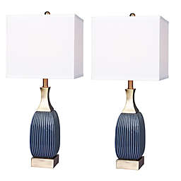 Fangio Lighting Ribbed Table Lamp (Set of 2)