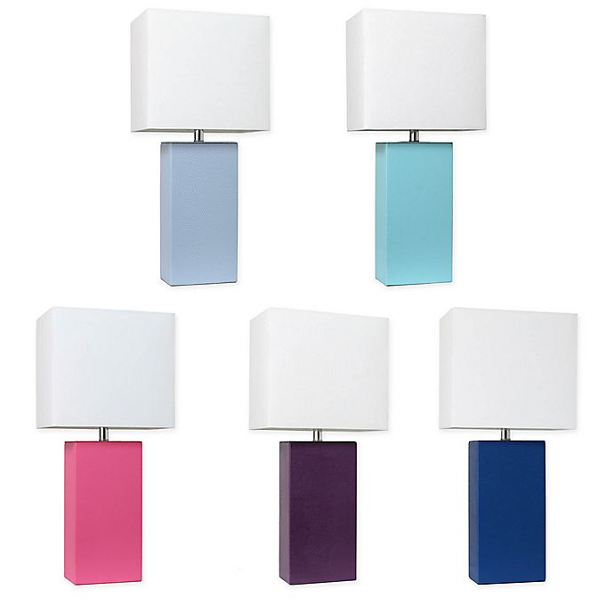 Alternate image 1 for Elegant Designs Modern Leather Table Lamp Collection