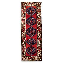 Feizy Rugs One of a Kind Antique Hamedan 3'5 x 9'10 Runner in Red/Beige