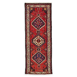 Feizy Rugs One of a Kind Antique Hamedan 3'5 x 9'4 Runner in Red/Ivory