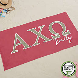 Alpha Chi Omega Beach Towel
