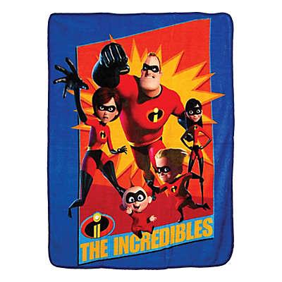 """Incredibles 2 """"Family Heroes"""" Micro Raschel Throw Blanket"""