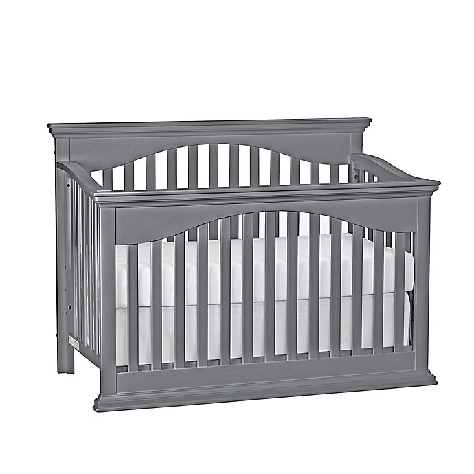 Alternate image 1 for Suite Bebe Bailey 4-in-1 Convertible Crib in Grey