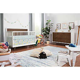Babyletto Palma Nursery Furniture Collection in White/Walnut