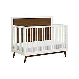 Babyletto Palma 4-in-1 Convertible Crib in White/Walnut