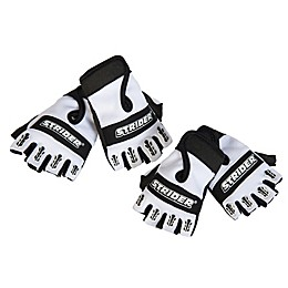 Strider® Half-Finger Bike Gloves in Black/White