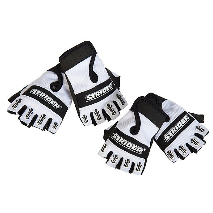 Alternate image 1 for Strider® Half-Finger Bike Gloves in Black/White
