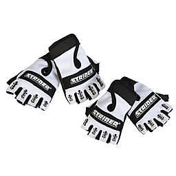 Strider® Half-Finger Bike Gloves in Black/White
