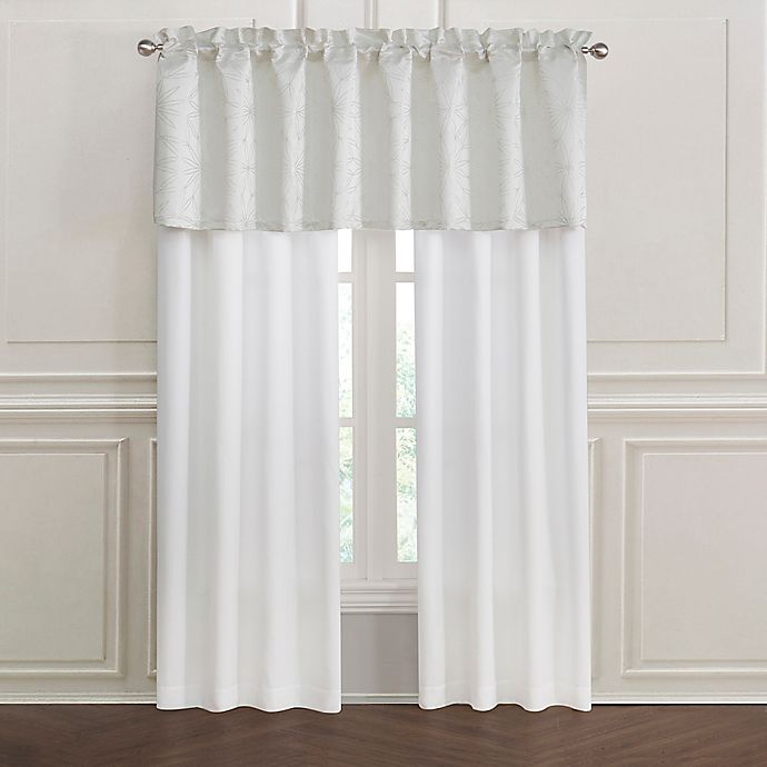 Alternate image 1 for Lumina Rod Pocket Window Curtain Panel Pair in Ivory