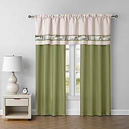 Malibu 84-Inch Rod Pocket Window Curtain Panel in Light Green