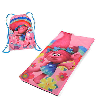 DreamWorks® Trolls Youth Sleeping Bag Set in Pink