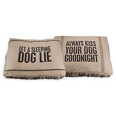 "Primitives by Kathy® ""Let A Sleeping Dog Lie"" Large Pet Bed"