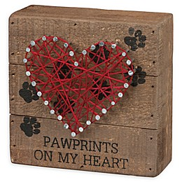 Primitives by Kathy® Pawprints String 4.5-Inch Square Box Wall Art