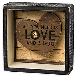 Primitives by Kathy® And A Dog Reverse 5-Inch Square Box Sign