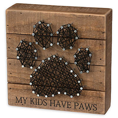 Primitives by Kathy® String Paw Print Box Sign