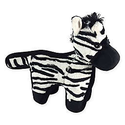 Hyper Pet™ Tough Plush Zebra Pet Toy in Black/White