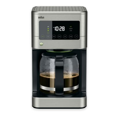 Braun Brewsense Touch Screen 12 Cup Coffee Maker In Stainless Steel Bed Bath Beyond