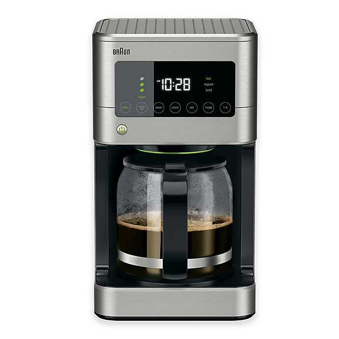 Alternate image 1 for Braun® Brewsense Touch Screen 12-Cup Coffee Maker in Stainless Steel