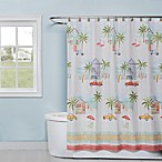 By The Surf 72-Inch x 70-Inch Shower Curtain