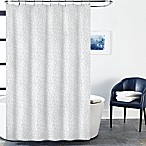 Block Geo Shower Curtain in Indigo