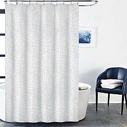 Block Geo Shower Curtain In Indigo
