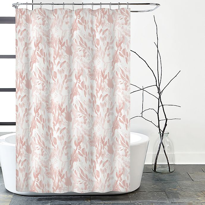 Moody Floral Shower Curtain In Blush