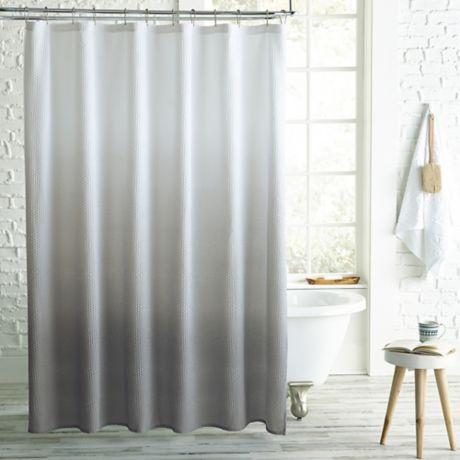 Peri Home Ombre Microsculpt Shower Curtain Bed Bath