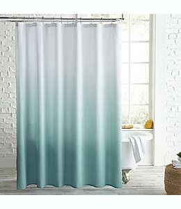 Cortina de baño Peri Home Microsculpt™ con diseño degradado en aqua
