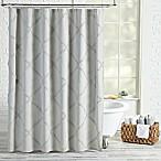 Peri Home Chenille Lattice Shower Curtain in Grey