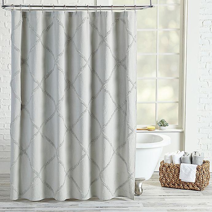 Peri Home Chenille Lattice Shower Curtain