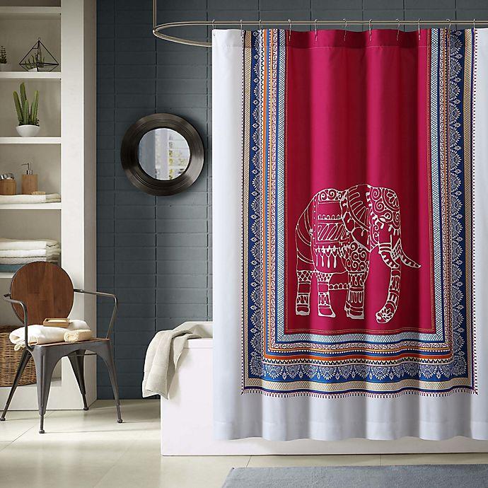 Alternate image 1 for Elephant Printed Shower Curtain