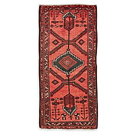 Feizy Rugs One of a Kind Antique Zanjan 3'2 x 6'7 Area Rug in Red/Blue