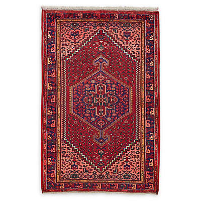 Feizy Rugs Antique Hamedan 4'4 x 6'4 Area Rug in Red/Blue/Blush