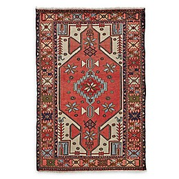 Feizy Rugs One of a Kind Antique Mousel 4'2 x 7' Area Rug in Red/Light Blue/Ivory