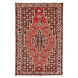 Feizy Rugs One of a Kind Antique Saveh 4'1 x 6'4 Area Rug in Red