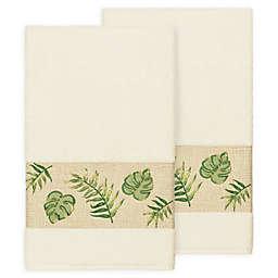 Linum Home Textiles Zoe Tropical Bath Towels in Cream (Set of 2)