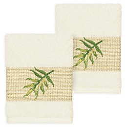 Linum Home Textiles Zoe Tropical Washcloths (Set of 2)