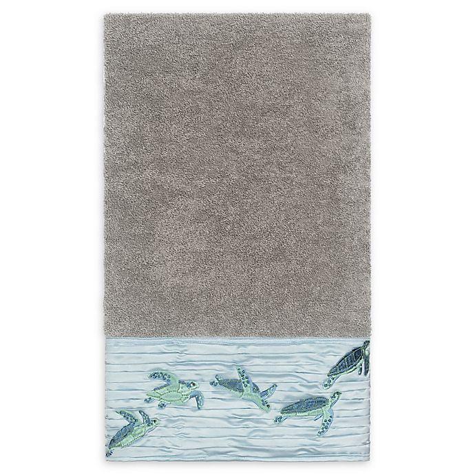 Alternate image 1 for Linum Home Textiles Mia Sea Turtle Bath Towel in Dark Grey